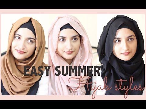 Easy Summer Hijab Styles - YouTube