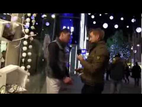 Christmas Lights In London 2013, & undercover police officer arrests a suspect...