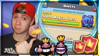 HOW TO UNLOCK A SUPER MAGICAL CHEST FROM QUESTS! | RTC Ep. 15 | Clash Royale
