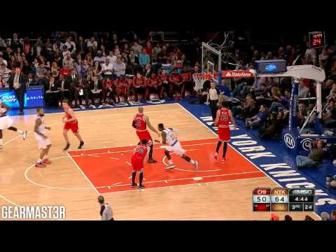 Carmelo Anthony and Tim Hardaway, Jr. vs Bulls Full Highlights (2014.04.13)