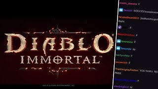 Twitch Chat Reacts To The Diablo Immortal Announcement