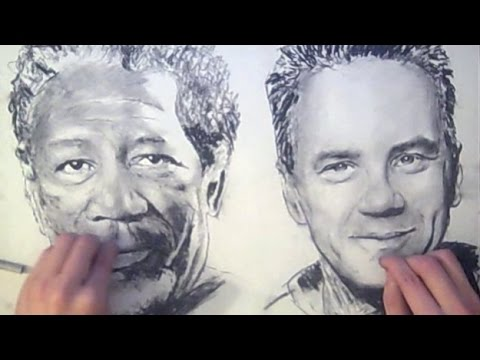 TWO HANDED Drawing - Shawshank Redemption