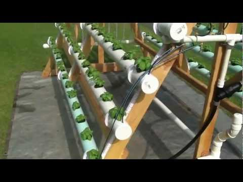 Homemade vertical (A-Frame) hydroponic system  Facebook https://www.facebook.com/greenerways