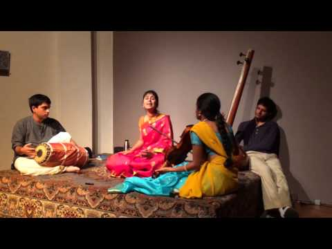 Dharini Kalyanaraman(vocal) Sruthy Sarathy(violin) and Gop