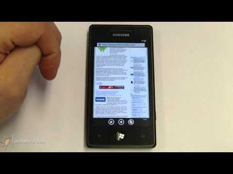Samsung Omnia 7 - Internet Explorer
