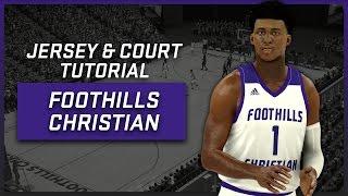 NBA 2K17 - Foothills Christian High School Jersey   Court Tutorial bc3847ab2