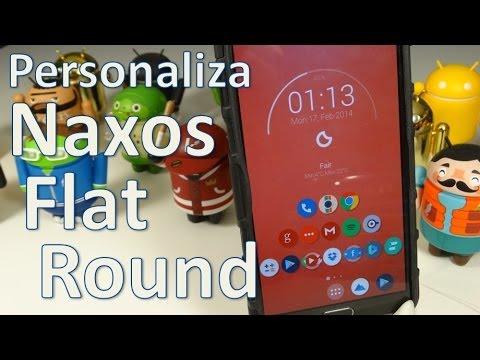 Personaliza tu Android con: Naxos Flat round Español Mx