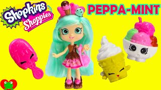 Shopkins Peppa Mint Doll Shoppies Collection with EXCLUSIVES