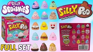 Unboxing Silly Squishies Silly Poo Blind Boxes | FULL SET Slow Rising Poop Squishies