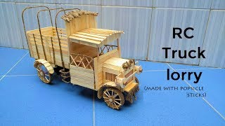 How to make a Popsicle Stick RC Truck lorry