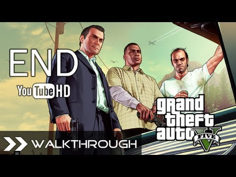 GTA 5 Walkthrough Grand Theft Auto V Gameplay - All 3 Endings (Option A B C - Kill Trevor/Michael & Deathwish) HD 1080p PS3 Xbox 360 No Commentary
