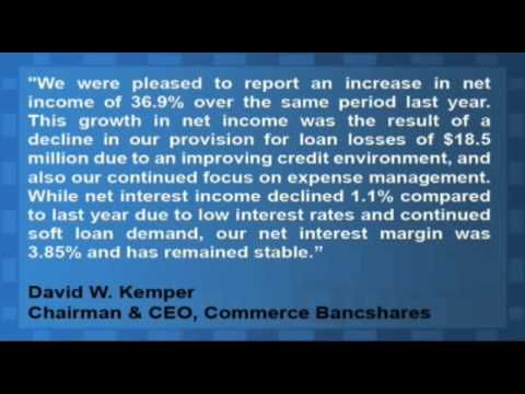 Commerce Bancshares Reports Q1 Results