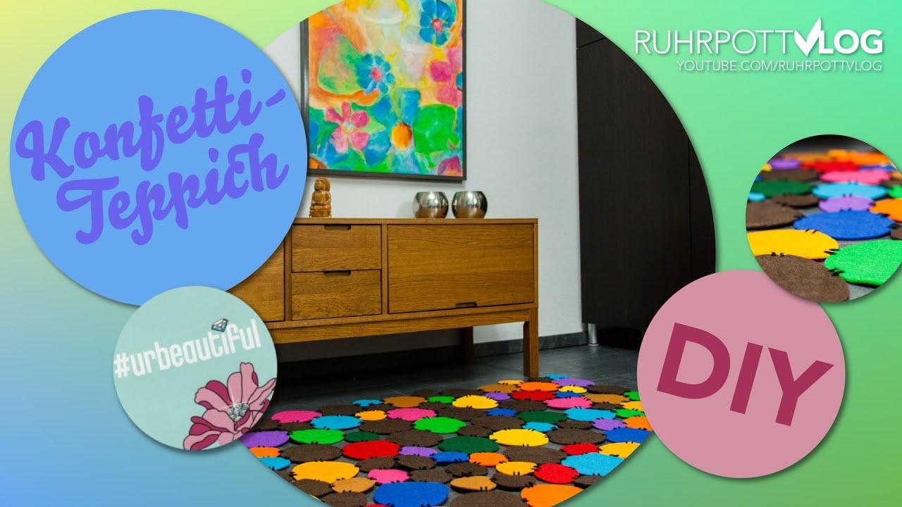 diy konfetti teppich selbermachen diy sunday youtube. Black Bedroom Furniture Sets. Home Design Ideas