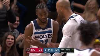Monster Slam Dunk From Andrew Wiggins Secures Victory