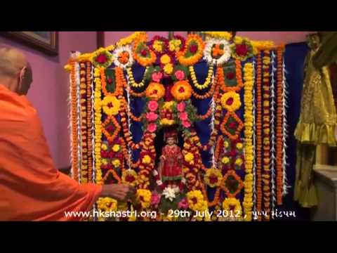 Hkshastri Hindola Darshan Pushp Mandapam - 29 July 2012 Shree Swaminarayan Temple, Gandhinagar video