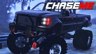 Chase Me E12 -  Huge Dually Sandking Pursuit In The Snow