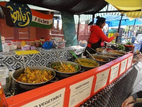 Sonita's Kitchen - A Healthy North Indian Punjabi Street Food Stall in Camden Lock Market, London.