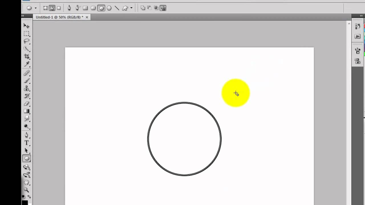 How to draw a circle with no fill in photoshop - YouTube