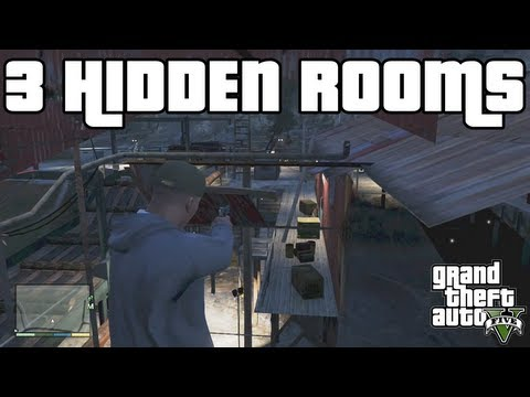 GTA 5 Tricks - Inside 3 SECRET HIDDEN Rooms! - Grand Theft Auto 5 Glitches