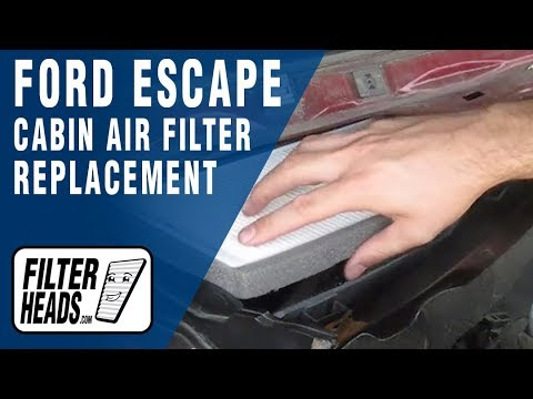 Cabin air filter replacement- Ford Escape