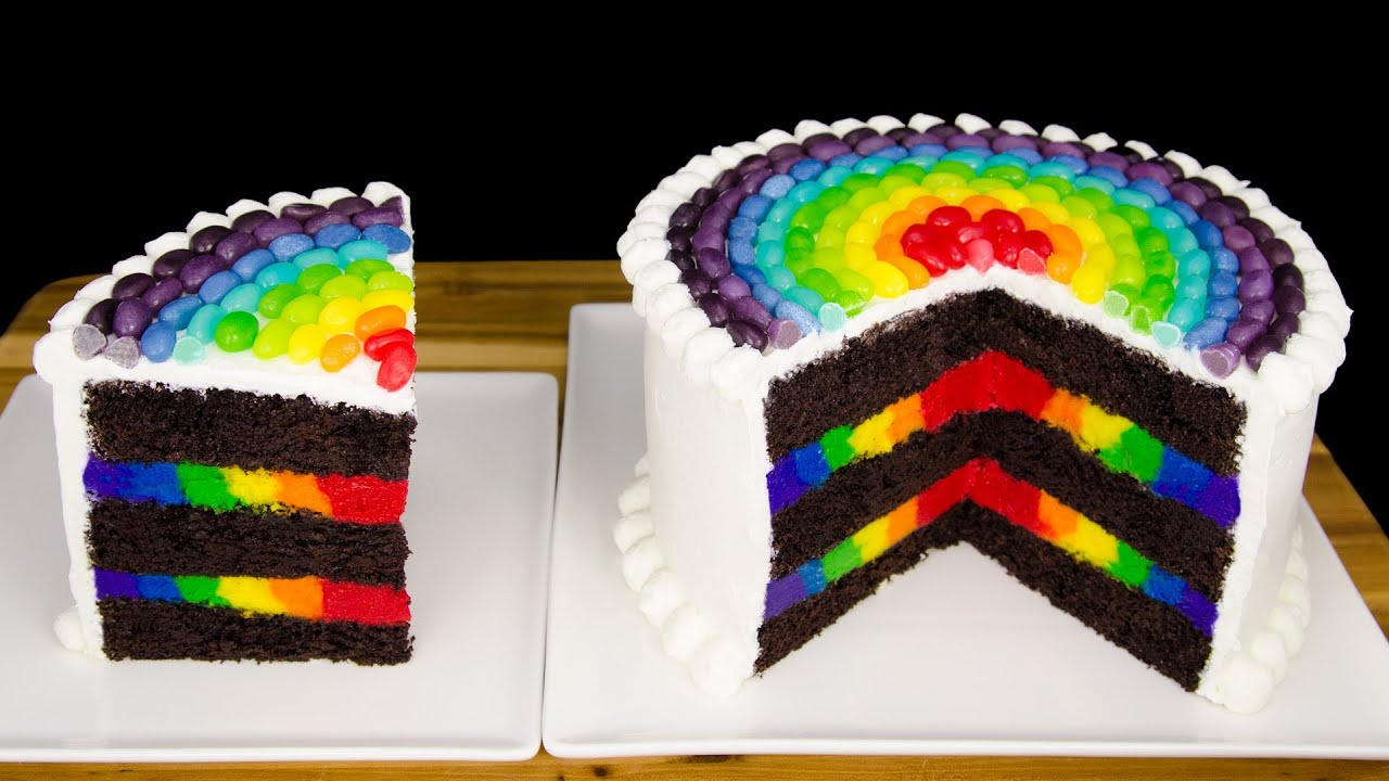 Pink And Yellow Checkerboard Cake