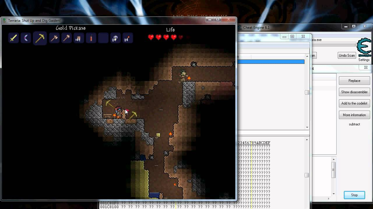 Terraria how to hack unlimited items with cheat engine youtube