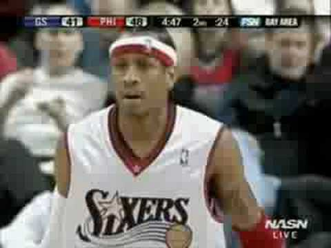 Allen Iverson 38pts vs Baron Davis GS Warriors 05/06 NBA Video