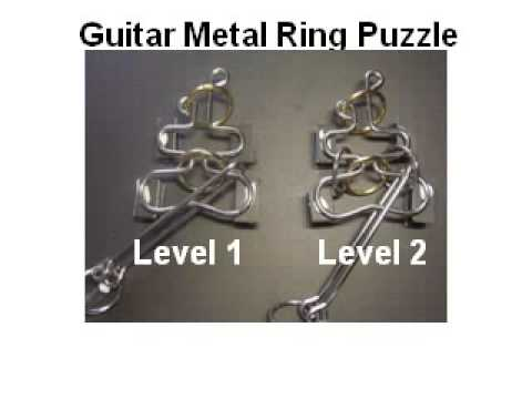 Guitar like Metal Ring and Wire Puzzle (2 levels comparison)