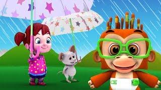 Ôi mưa rồi! | trẻ em bài hát | mùa mưa bài hát | I Hear Raindrops
