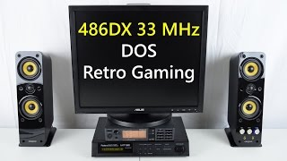 486DX 33 MHz DOS Retro Gaming PC Roland MT-32 Sound Canvas