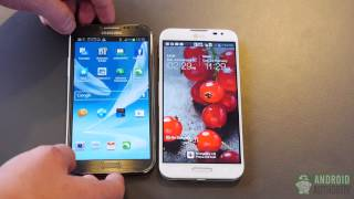 LG Optimus G Pro vs. Samsung Galaxy Note 2 - first look!