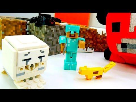 Мобы Майнкрафт - Видео обзор со Стивом - Игры для мальчиков.