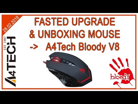 Апгрейд и анбоксинг мышки по фасту | A4Tech Bloody V8 | Fasted unboxing mouse