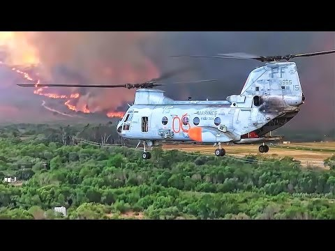 Fighting California Wildfires 2014 - Helicopter Buckets