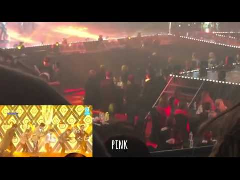 Blackpink, NCT, and Twice reaction to EXO @6th Gaon Chart Awards