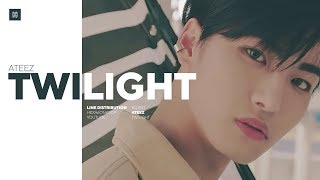 ATEEZ - TWILIGHT Line Distribution (Color Coded) | D-2 ONE TO ALL
