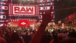 Stone Cold Steve Austin and AJ Styles after RAW MSG 9/9/19