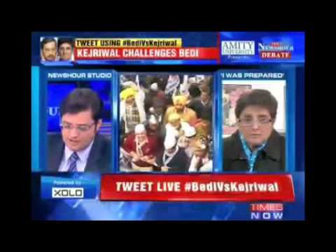 Full Interview  Kiran Bedi leaves The Newshour Direct midway when faced with Arnab tough questions