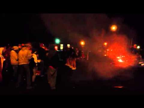 Ritzville High School bonfire 2012