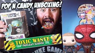 TOXIC WASTE & WARHEADS?! - Pop N Candy UNBOXING & TASTE TEST!