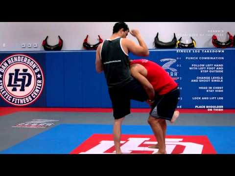 Dan Henderson MMA Techniques of the Week Single Leg Takedown Right vs Left Hand Image 1