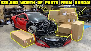 Rebuilding a Wrecked 2017 Acura NSX Part 1