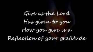 Give to the Lord with Lyrics