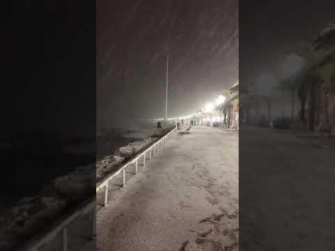 Снежная Ницца. Пальмы, море и снег. Ницца 2018