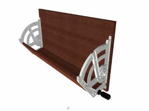 Sistema de zapatera youtube for Modelos de zapateros en madera