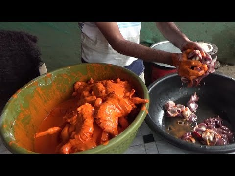 Chicken Fry 70 Rs Full Preparation |  Arjoo Chicken Biryani Center