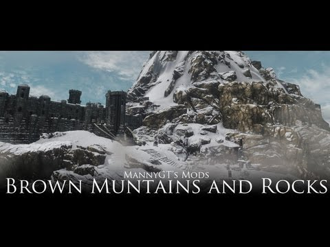 TES V - Skyrim: Brown Mountains and Rocks. Alyn Shir Armor. Stags Rest Player Home