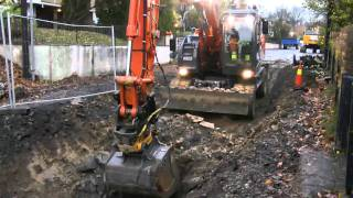 Hitachi Zaxis 170W Digging Rocks