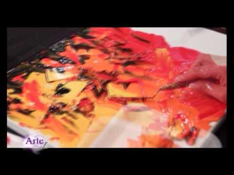Cuadros pintura acrilica texturados modernos for Como hacer cuadros modernos