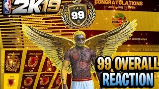 FIRST 99 OVERALL PURE POINT FORWARD IN NBA 2K19 - 99 OVERALL LEGEND REACTION
